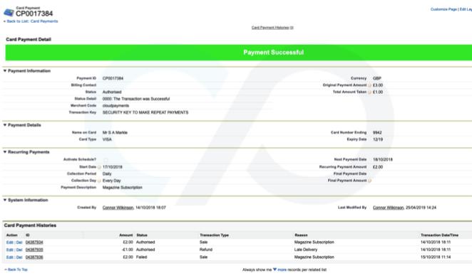 Card Payment Integration